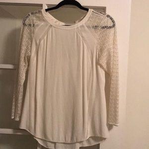 Rebecca Taylor cream silk blouse